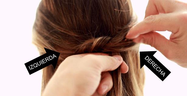 Peinado rapido con broches