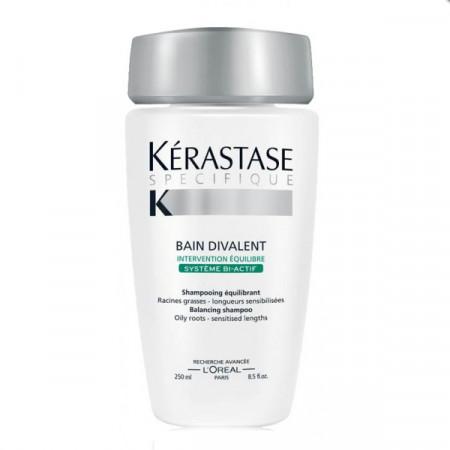 KÉRASTASE SPÉCIFIQUE BAIN DIVALENT 250ml / champú / cabello raíz grasa /  largos y puntas