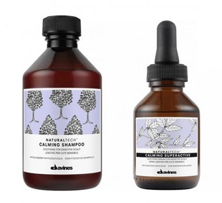 DAVINES NATURAL TECH CALMING / 350ml / PACK 26 / champú + spray (cabello sensible)