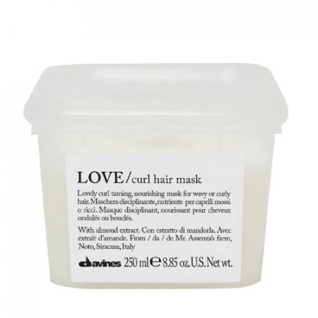 DAVINES ESSENTIAL HAIRCARE LOVE CURL HAIR MASK 250ml / Mascarilla disciplinante y nutritiva / cabello rizado y ondulado