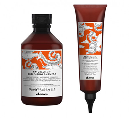 DAVINES NATURAL TECH ENERGIZING / 400ml / PACK 29 / champú + gel (caída del cabello)
