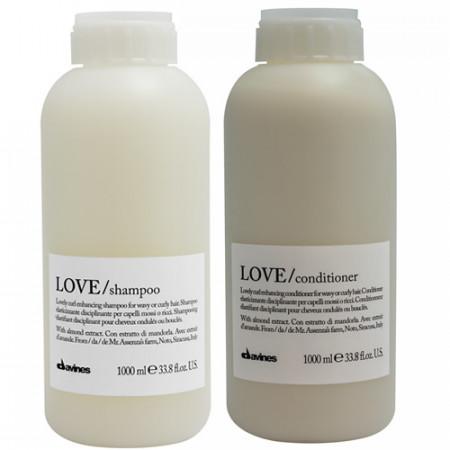 DAVINES LOVE CURL PACK - CHAMPÚ 1000 ml y ACONDICIONADOR 1000 ml