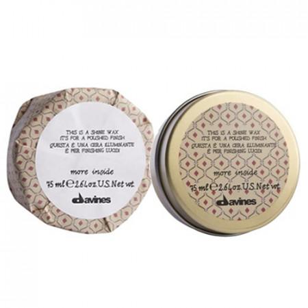 DAVINES MORE INSIDE SHINE WAX 75ml / cera abrillantadora de textura en crema