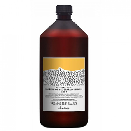 DAVINES NOURISHING VEGETARIAN MIRACLE MASK 1000 ml (cabello quebradizo y rebelde)