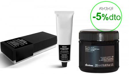 DAVINES OI / 325ml / PACK 22 /  crema de manos  + crema de piel corporal (propiedades del aceite de Roucou)