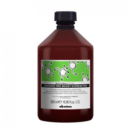 DAVINES NATURAL TECH RENEWING PRO BOOST SUPERACTIVE 500ml / Prepara el cuero cabelludo para una profunda limpieza y tonificacion