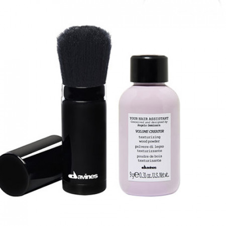 DAVINES YOUR HAIR ASSISTANT VOLUMEN CREATOR 9gr + BROCHA 20gr (polvo texturizante de volumen + brocha)