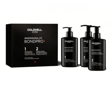 GOLDWELL SYSYTEM BONDPRO INTRO KIT 1500ml / Protege y refuerza el cabello durante el servicio de decoloración, coloración o texturización