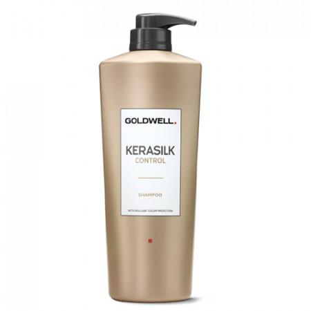 GOLDWELL KERASILK CONTROL CHAMPÚ 1000ml / alisa el cabello y limpia suavemente / prolonga el efecto de la keratina