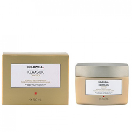 GOLDWELL KERASILK CONTROL INTENSIVE SMOOTHING MASK 200ml / mascarilla alisadora / suavidad, control y brillo para el cabello