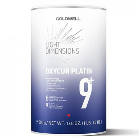 GOLDWELL LIGHT DIMENSIONS OXYCUR PLATIN 500gr - decoloración acción rápida (hasta 9 tonos)