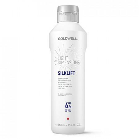 GOLDWELL LIGHT DIMENSIONS SILKLIFT CONDITIONING CREAM DEVELOPER 6% -20 Vol - 750 ml crema reveladora