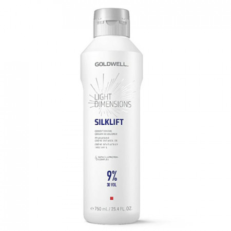 GOLDWELL LIGHT DIMENSIONS SILKLIFT CONDITIONING CREAM DEVELOPER 9% -30 Vol - 750 ml crema reveladora