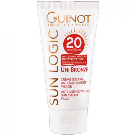 GUINOT CRÈME SOLAIRE ANTI-AGE TEINTÉE SPF 20 50ml Protección solar media - formula con color - rostro