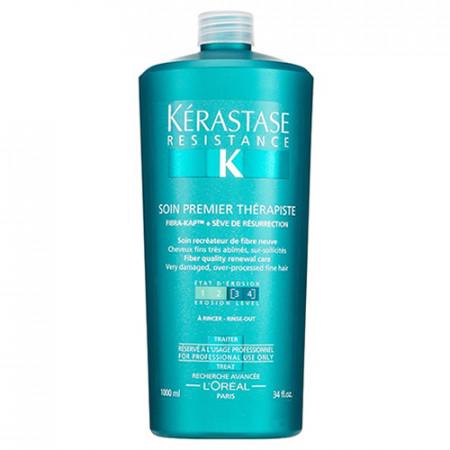 KÉRASTASE RÉSISTANCE SOIN PREMIER THÉRAPISTE 1000ml / tratamiento pre-champú / cabello fino y muy dañado tratado químicamente