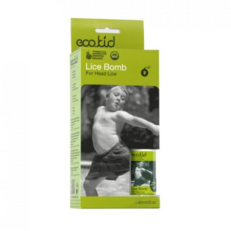 ECO KID LICE BOMB LOCION 60ml / elimina piojos y liendres / cabello niños