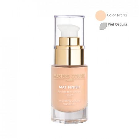 MASTERS COLORS MAT FINISH Color N° 12 30ml - Base de maquillaje unificante y alisadora