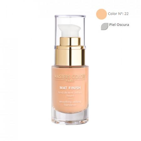 MASTERS COLORS MAT FINISH Color N° 22 30ml - Base de maquillaje unificante y alisadora