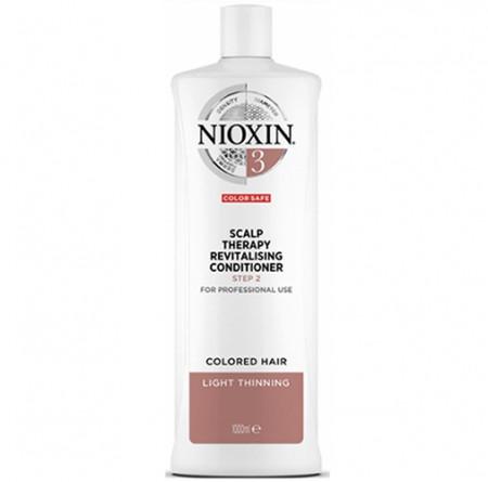 NIOXIN ACONDICIONADOR 3 1000ml cabello coloreado, fino y aspecto normal a fino