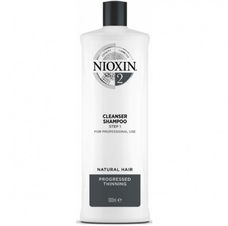 NIOXIN CHAMPÚ 2 1000ml cabello natural, fino y con pérdida perceptible