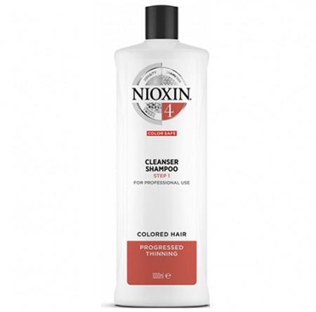 NIOXIN CHAMPU 4 1000ml cabello coloreado, fino y pérdida perceptible