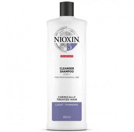 NIOXIN CHAMPU 5 1000ml cabello coloreado o natural, aspecto normal a grueso