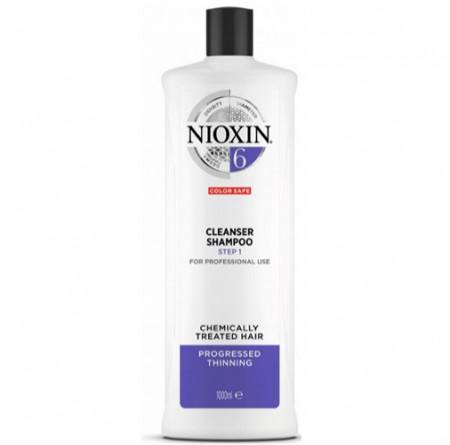 NIOXIN CHAMPU 6 1000ml cabello coloreado o natural con pérdida perceptible