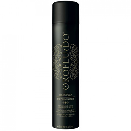 OROFLUIDO MEDIUM HOLD HAIRSPRAY 500ml / fijación media / brillo