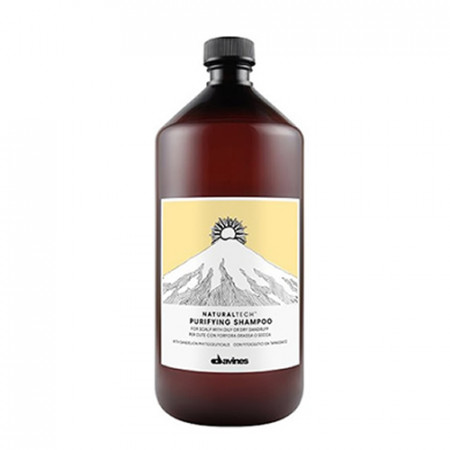 DAVINES NATURAL TECH PURIFYING CHAMPÚ 1000ml caspa / grasa / seco