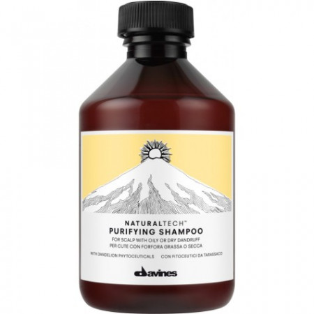 DAVINES NATURAL TECH PURIFYING CHAMPÚ 250ml caspa / grasa / seco