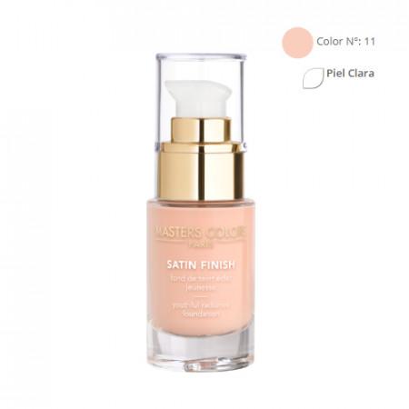 MASTERS COLORS SATIN FINISH Color N° 11 30ml - Base de maquillaje resplandor y juventud