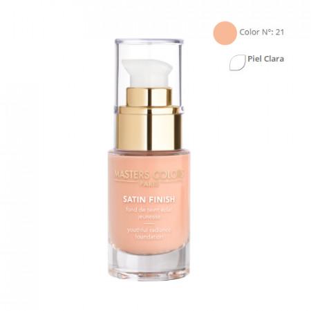 MASTERS COLORS SATIN FINISH Color N° 21 30ml - Base de maquillaje resplandor y juventud