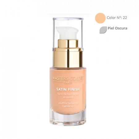 MASTERS COLORS SATIN FINISH Color N° 22 30ml - Base de maquillaje resplandor y juventud