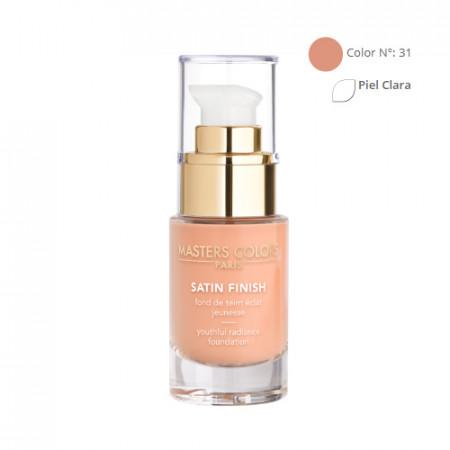 MASTERS COLORS SATIN FINISH Color N° 31 30ml - Base de maquillaje resplandor y juventud