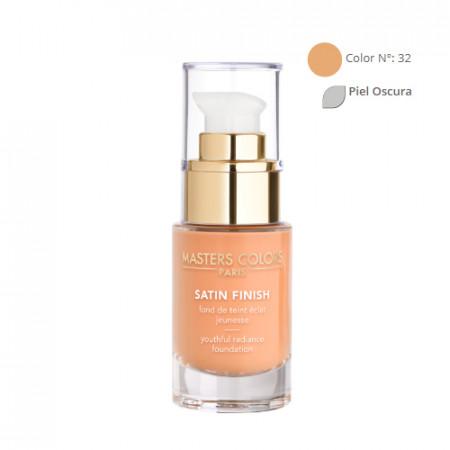 MASTERS COLORS SATIN FINISH Color N° 32 30ml - Base de maquillaje resplandor y juventud