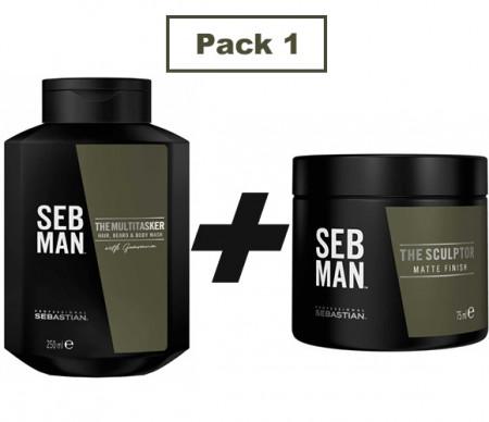 SEBASTIAN SEB MAN PACK 1 - 350 ml - Gel de ducha + cera mate
