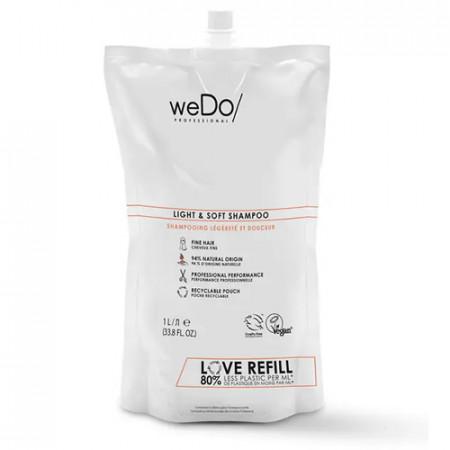 WEDO LIGHT & SOFT CHAMPU 1000 ml - cabello fino - recambio reciclable