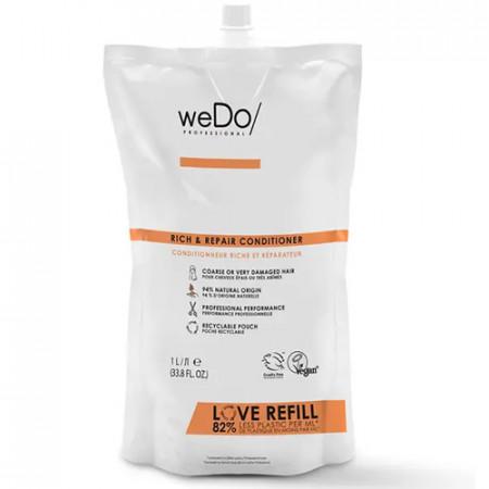 WEDO RICH & REPAIR ACONDICIONADOR 1000 ml - cabello grueso o muy dañado  - recambio reciclable