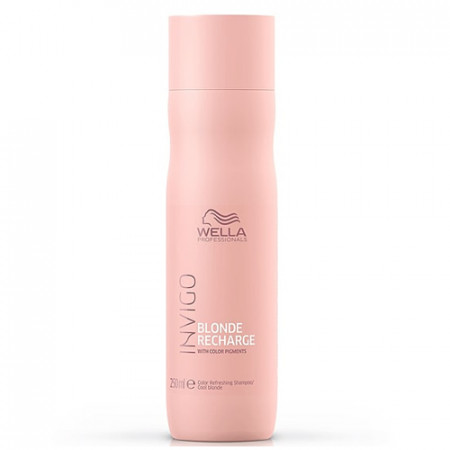 WELLA INVIGO BLONDE RECHARGE CHAMPU 250 ml cabello rubio, gris y blanco