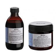 DAVINES ALCHEMIC SILVER 580ml / PACK - 1 / champú + acondicionador (cabello blanco / plata)
