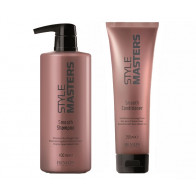 STYLE MASTERS SMOOTH / CHAMPU + ACONDICIONADOR / PACK 650ml / cabello liso