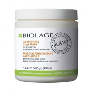 BIOLAGE RAW NOURISH RE-HYDRATE ARCILLA 400 ml Cabello seco