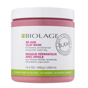 BIOLAGE RAW RECOVER RE-HAB ARCILLA 400 ml Cabello dañado y sensible