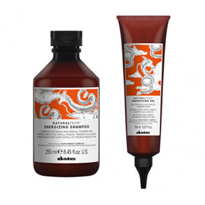 DAVINES NATURAL TECH ENERGIZING / 400ml / PACK 29 / champú + gel (caída del cabello)