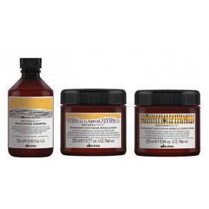 DAVINES NATURAL TECH NOURISHING / 750ml / PACK 30 / champú + acondicionador + mascarilla (cabello seco / dañado)