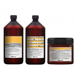 DAVINES NOURISHING PACK - CHAMPÚ 1000 ml - ACONDICIONADOR 1000 ml - MASCARILLA 250 ml