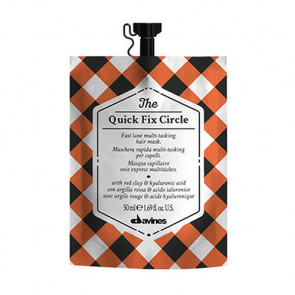 DAVINES THE QUICK FIX CIRCLE 50ml / Mascarilla capilar de efecto inmediato / hidrata y desenreda el cabello en 3 minutos