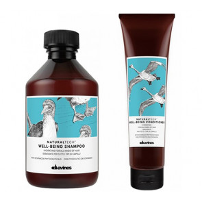 DAVINES NATURAL TECH WELL-BEING  / 400ml / PACK 38 / champú + acondicionador (hidratante todo tipo de cabello)