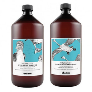 DAVINES WELL BEING  PACK - CHAMPÚ 1000 ml y ACONDICIONADOR 1000 ml