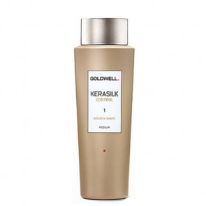 GOLDWELL KERASILK CONTROL SHAPE MEDIUM (1) 500ml / tratamiento queratina / transformación ligera / cabello manejable con ondas definidas